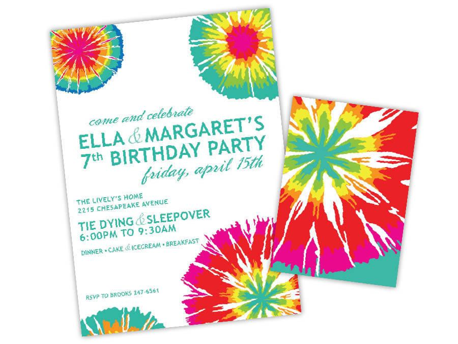free printable tie dye birthday invitations ; Superb-Tie-Dye-Party-Invitations