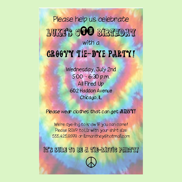 free printable tie dye birthday invitations ; tie-dye-invitation