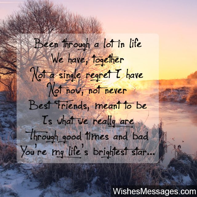 friendship poems for best friends birthday ; You-are-my-best-friend-poem-with-sunset-beautiful-picture-640x640
