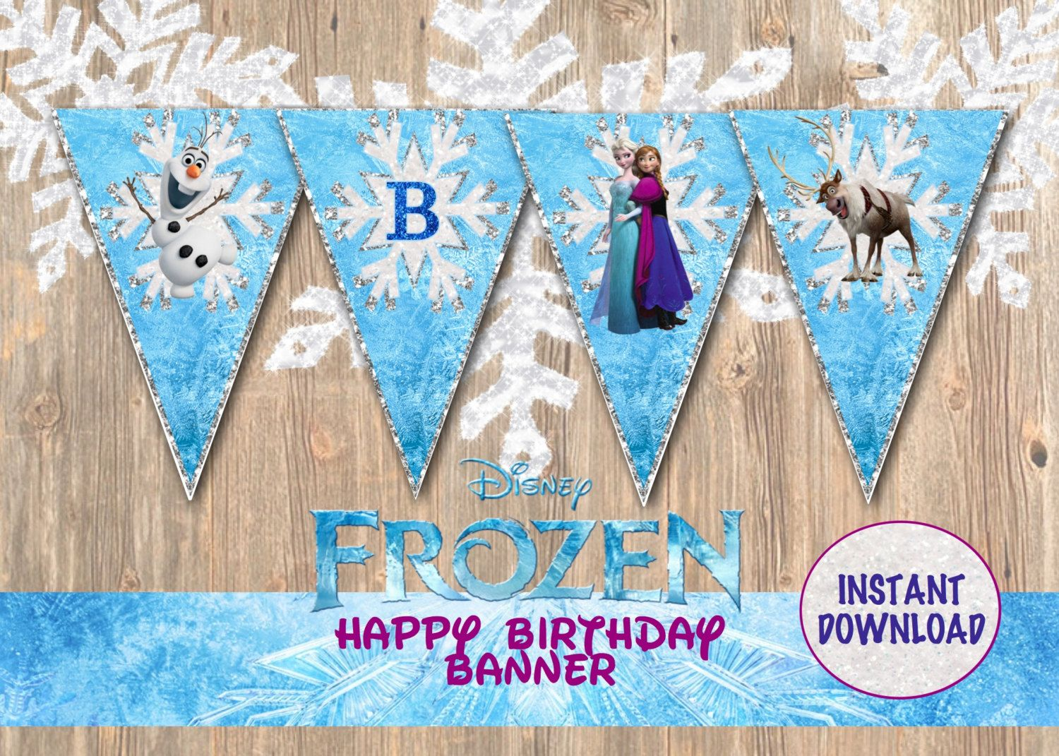 frozen birthday party banner ; 872bbc79ce04f8f1b6d84ca7ec074264