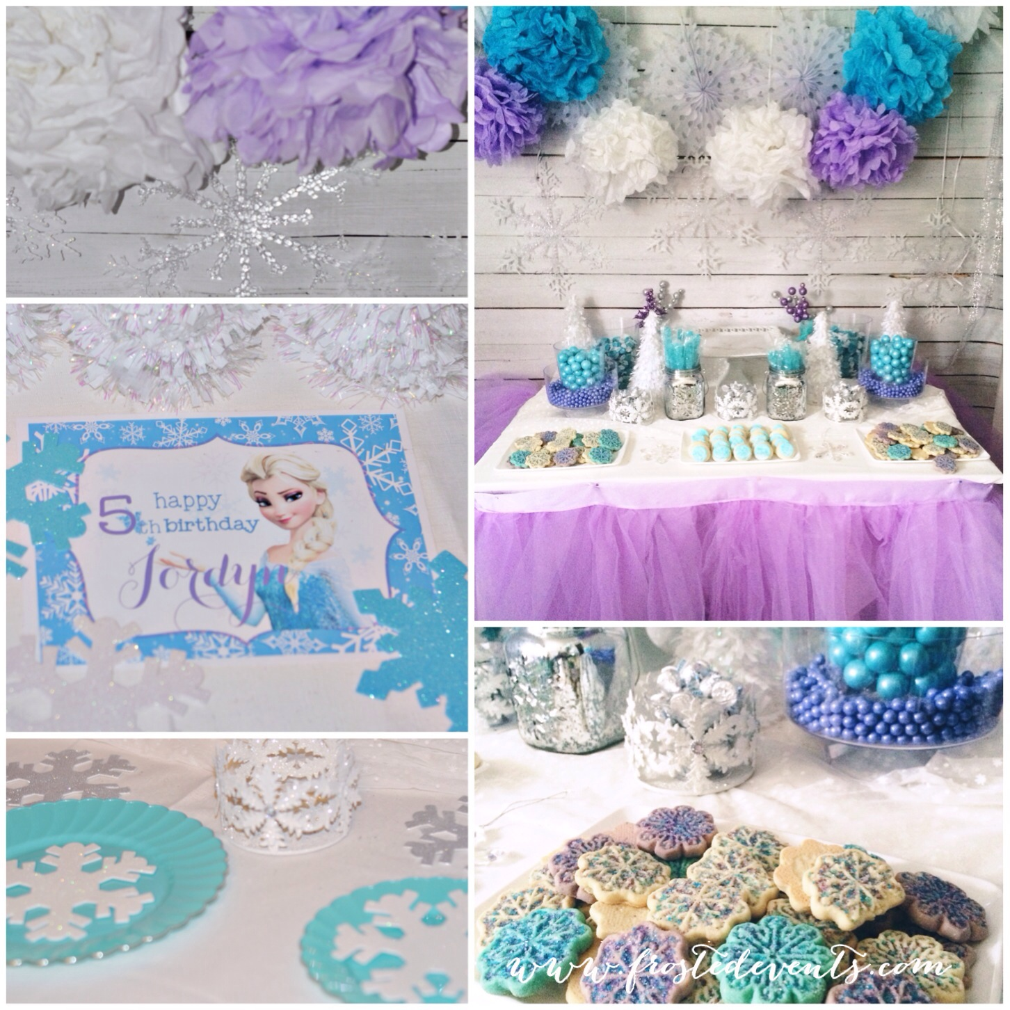 frozen birthday party banner ; frozen-birthday-party-decor-favors-printables-frostedeventscom-2014-05