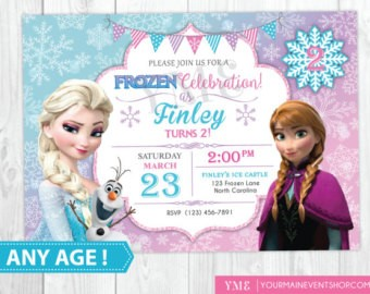 frozen birthday party invitations free printable ; Popular-Frozen-Birthday-Party-Invitations-To-Create-Your-Own-Printable-Birthday-Invitations