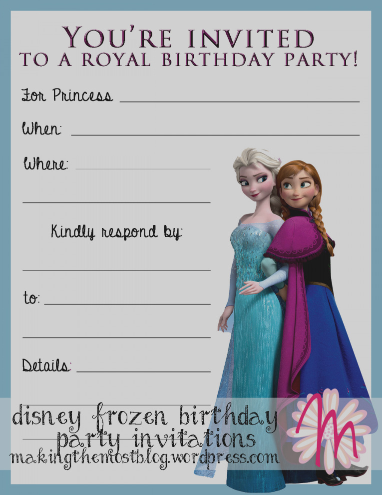 frozen birthday party invitations free printable ; gallery-of-frozen-birthday-invitations-free-printable