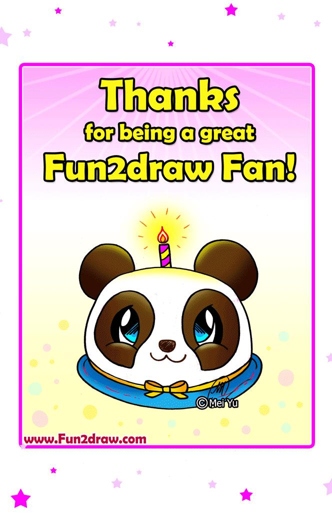 fun to draw birthday ; draw-cute-birthday-gift-panda-cake-card-for-fun2draw-fans