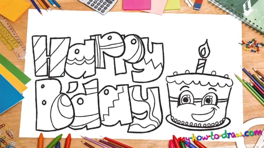 fun to draw birthday ; how-to-draw-happy-birthday-card-how-to-draw-happy-birthday-fun-lettering-my-ho-to-draw