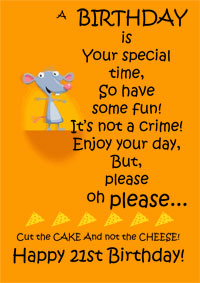funny sayings for 21st birthday card ; 21st-birthday-card-funny