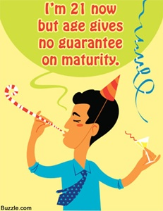 funny sayings for 21st birthday card ; 231-quote-about-maturity-on-birthday