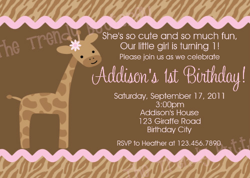 giraffe 1st birthday invitation ; giraffe-birthday-invitation