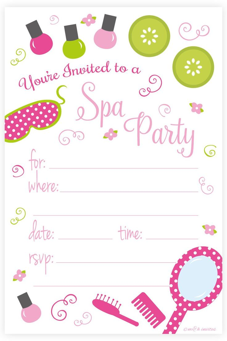girl spa invitation birthday party ; Appealing-Spa-Party-Invitations-To-Design-Party-Invitations