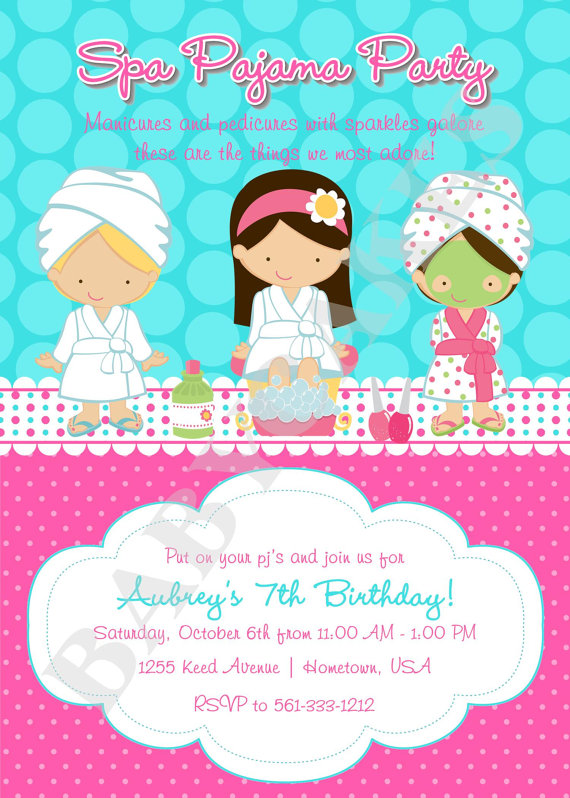 girl spa invitation birthday party ; girl-spa-party-invitations-to-make-your-appealing-Party-invitations-more-elegant-6