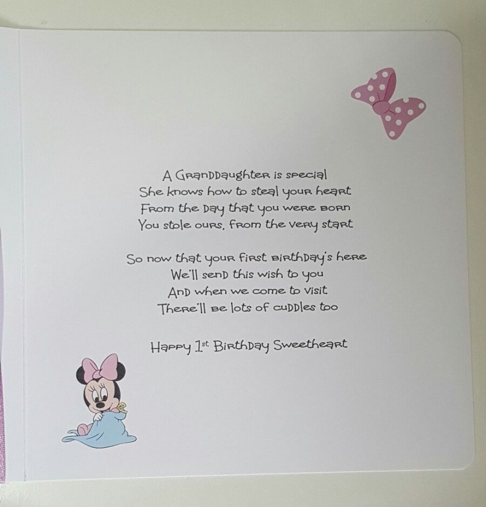 goddaughter first birthday card ; personalised-1st-birthday-card-suitable-for-granddaughter