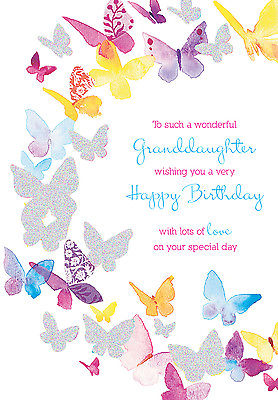 granddaughter birthday card images ; granddaughter-birthday-card-colourful-butterfly-design-size-9-x-6