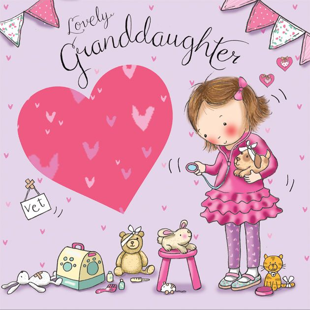 granddaughter birthday card images ; granddaughter-birthday-card-dressing-up-tw642-4210-p