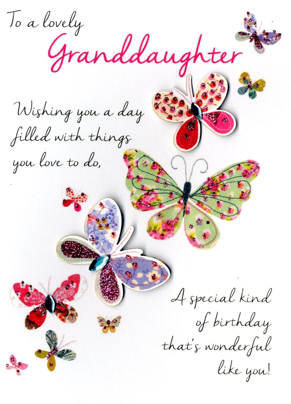granddaughter birthday card images ; lrgscaleJT053