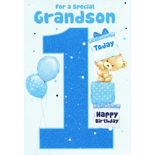 grandson 1st birthday message ; 7814
