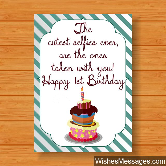 grandson 1st birthday message ; Birthday-cupcake-with-candle-short-birthday-message-for-first-birthday-640x640