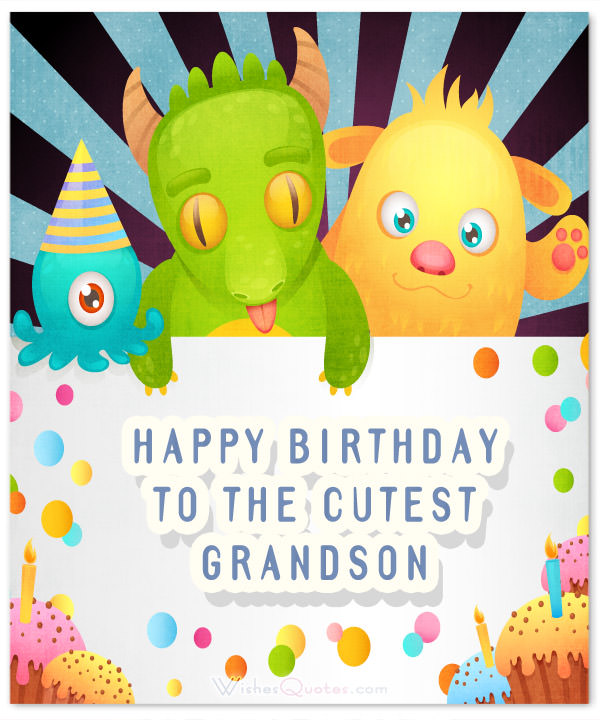 grandson 1st birthday message ; Happy-Birthday-cutest-grandson