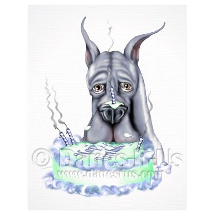 great dane birthday card ; 3ee8806556e2d06ad2b54cdca061d333--cake-face-card-stock