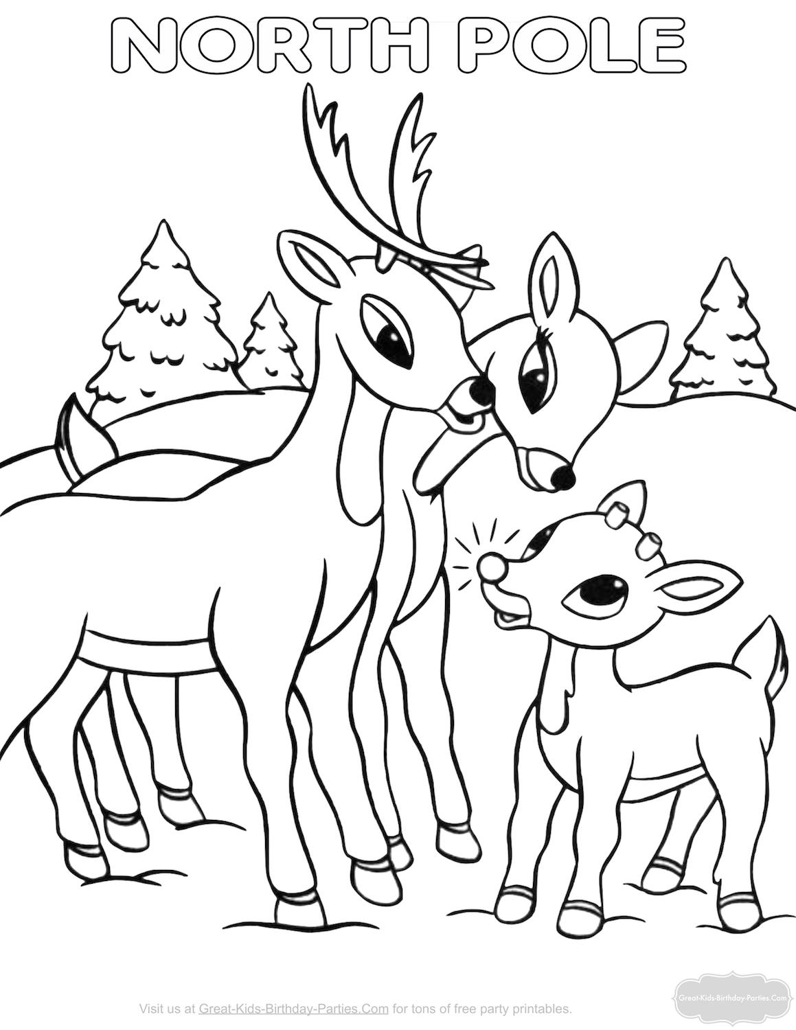 great kids birthday parties ; christmas-coloring-pages-5