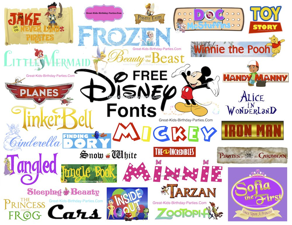 great kids birthday parties ; free-disney-pictures-free-disney-font-trash-pack-monsters