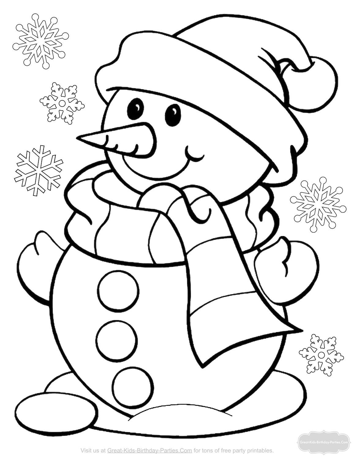great kids birthday parties ; snowman-coloring-pages-2
