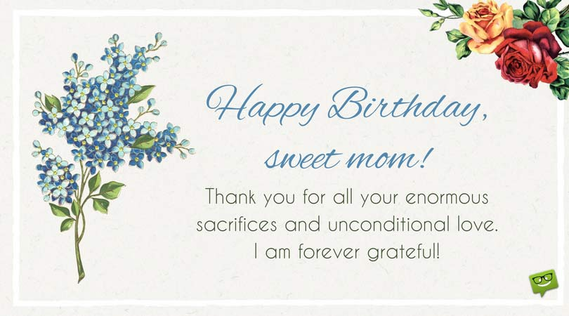greeting card happy birthday to mom ; Sweet-birthday-wish-for-mother