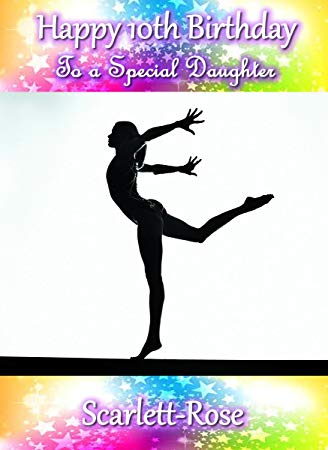gymnastics birthday card ; 61CNBlmChwL
