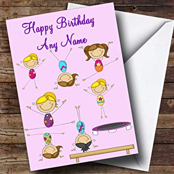 gymnastics birthday card ; 71dNs0QECsL