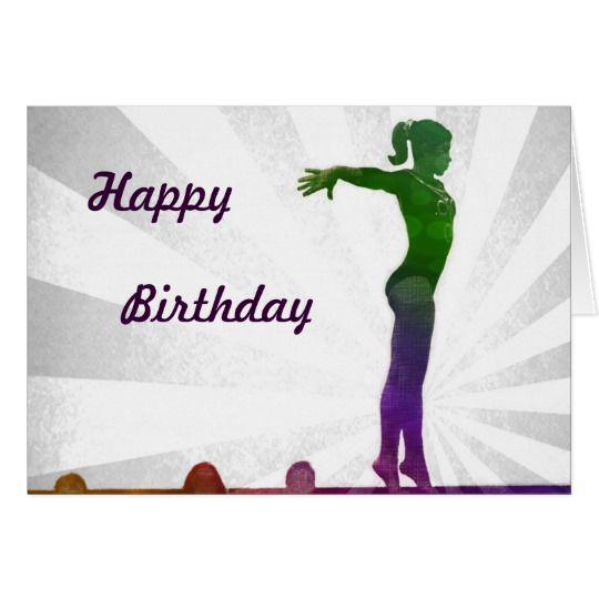 gymnastics birthday card ; gymnastics-birthday-cards-3