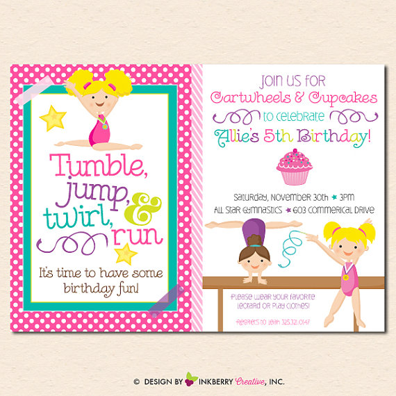 gymnastics birthday card ; il_570xN-1