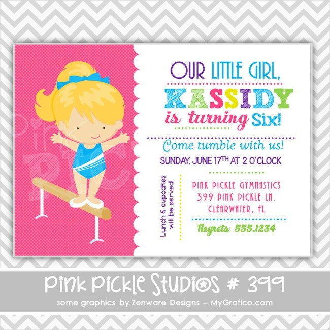 gymnastics birthday card ; pickle-birthday-card-inspirational-687-best-gymnastics-birthday-party-images-on-pinterest-of-pickle-birthday-card