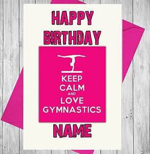 gymnastics birthday card ; s-l300-2