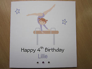 gymnastics birthday card ; s-l300-3