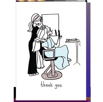 hairdresser birthday card ; hairdresser-birthday-card-card-front-large
