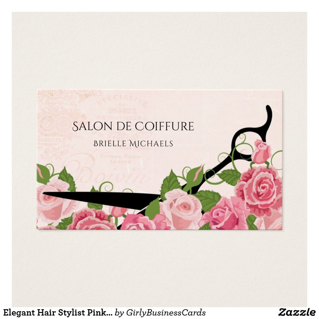 hairdresser birthday card ; hairdresser-birthday-card-inspirational-hair-stylist-pink-rose-hair-salon-shears-business-card-of-hairdresser-birthday-card