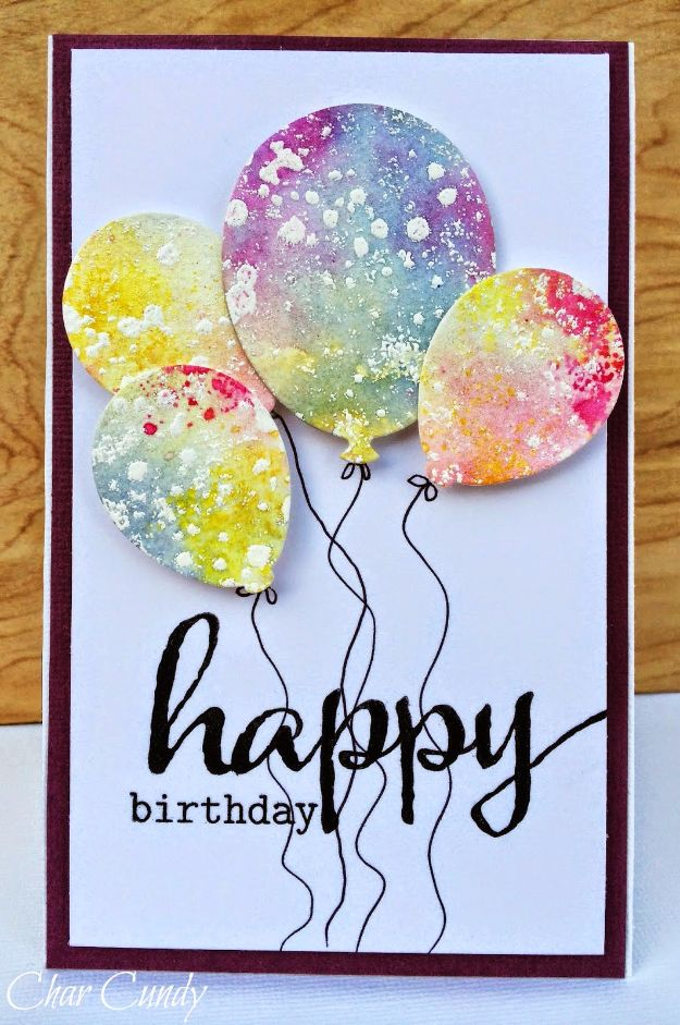 handmade birthday card ideas ; Watercolor-Birthday-Card