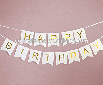 hanging birthday banner ; Wholesale-Bunting-Paper-Flag-Happy-Birthday-Hanging
