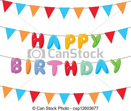 hanging birthday banner ; happy-birthday-image_csp12603677