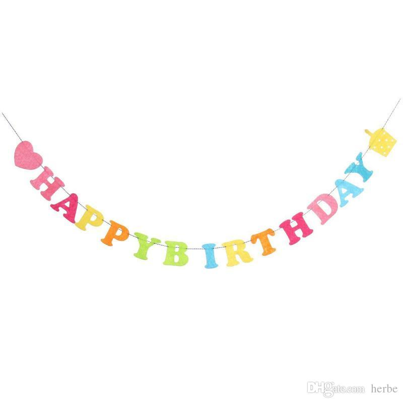 hanging birthday banner ; wholesale-colorful-happy-birthday-banner