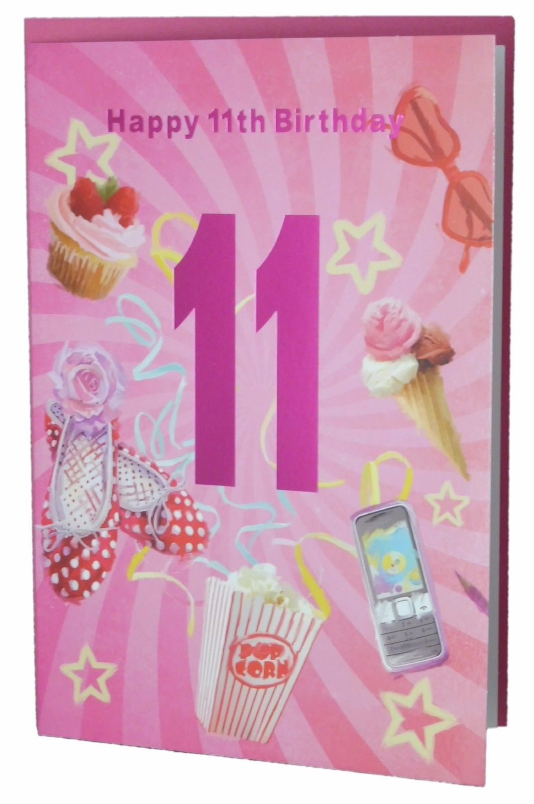 happy 11th birthday girl ; modern-happy-11th-birthday-card-for-a-girl-247-p