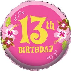 happy 13th birthday clipart ; 6c5648af9c9ab10884d818e68a0333b1--number-balloons-foil-balloons