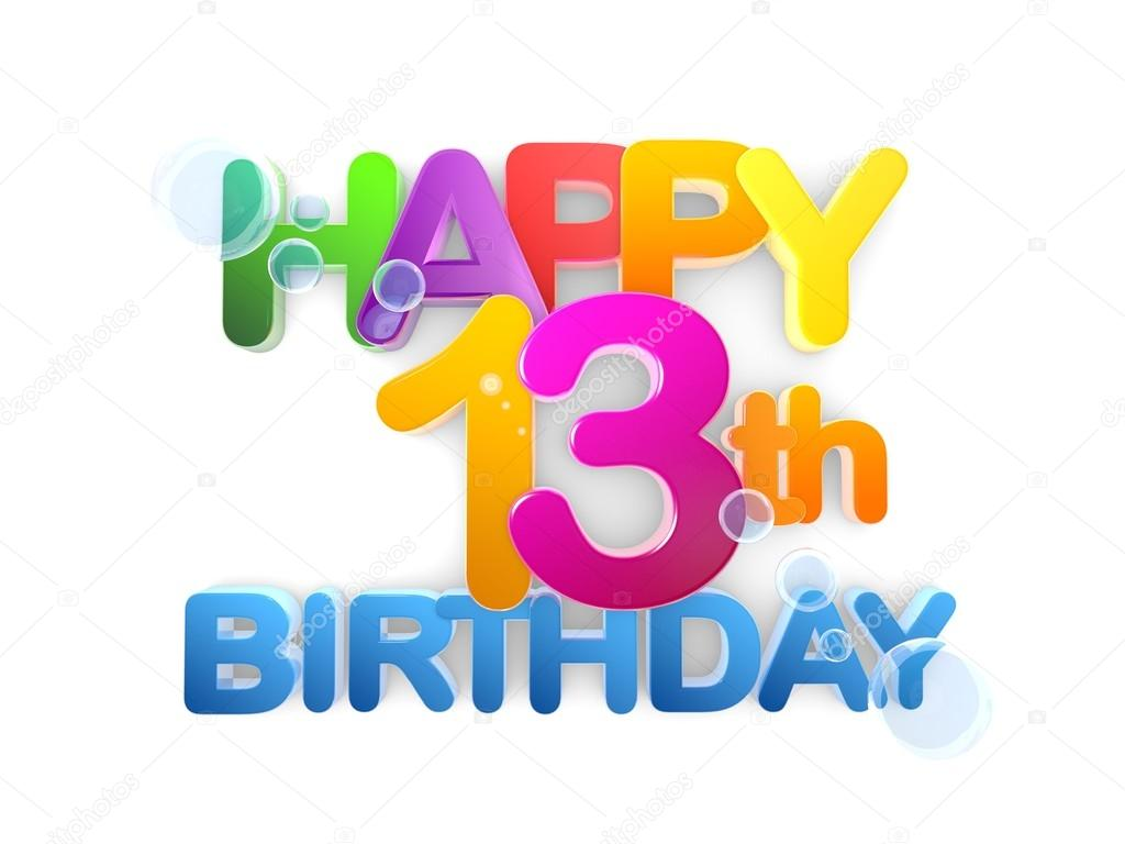 happy 13th birthday clipart ; depositphotos_91262970-stock-photo-happy-13th-birthday-title-light