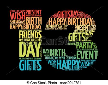 happy 13th birthday clipart ; happy-13th-birthday-word-cloud-eps-vector_csp40242781