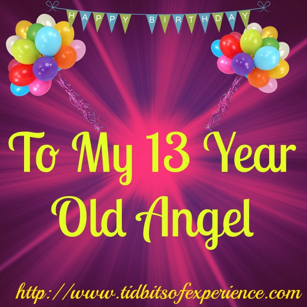 happy 13th birthday daughter ; Angel-13-year-old-birthday
