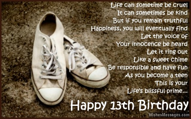 happy 13th birthday to my son ; Inspirational-13th-birthday-card-message