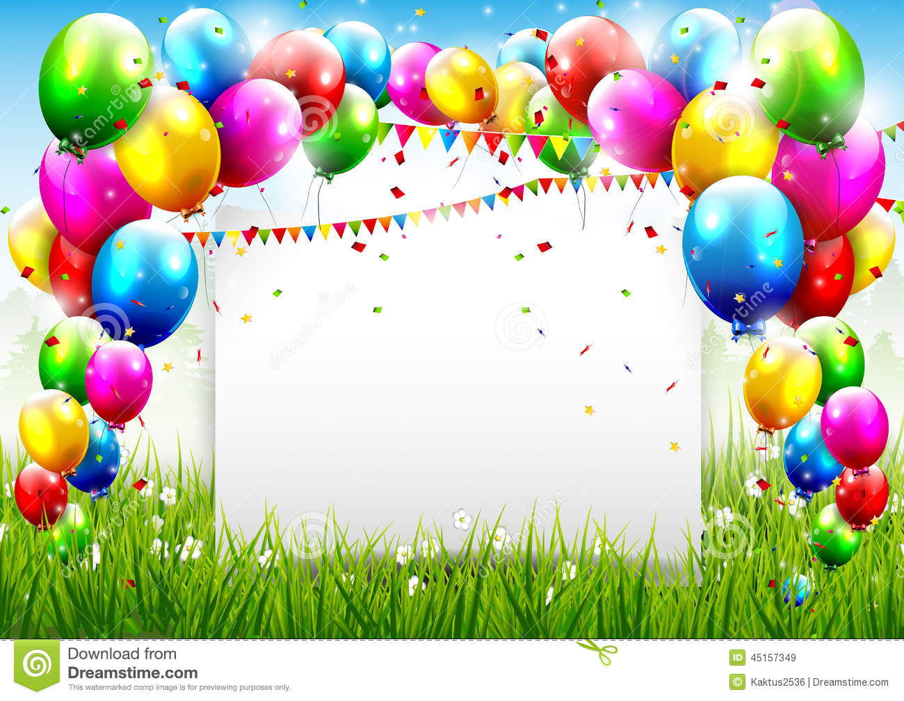 happy 1st birthday background ; birthday-background-colorful-place-textn-45157349