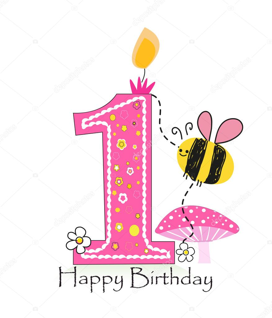 happy 1st birthday background ; depositphotos_107605668-stock-illustration-happy-first-birthday-candle-baby