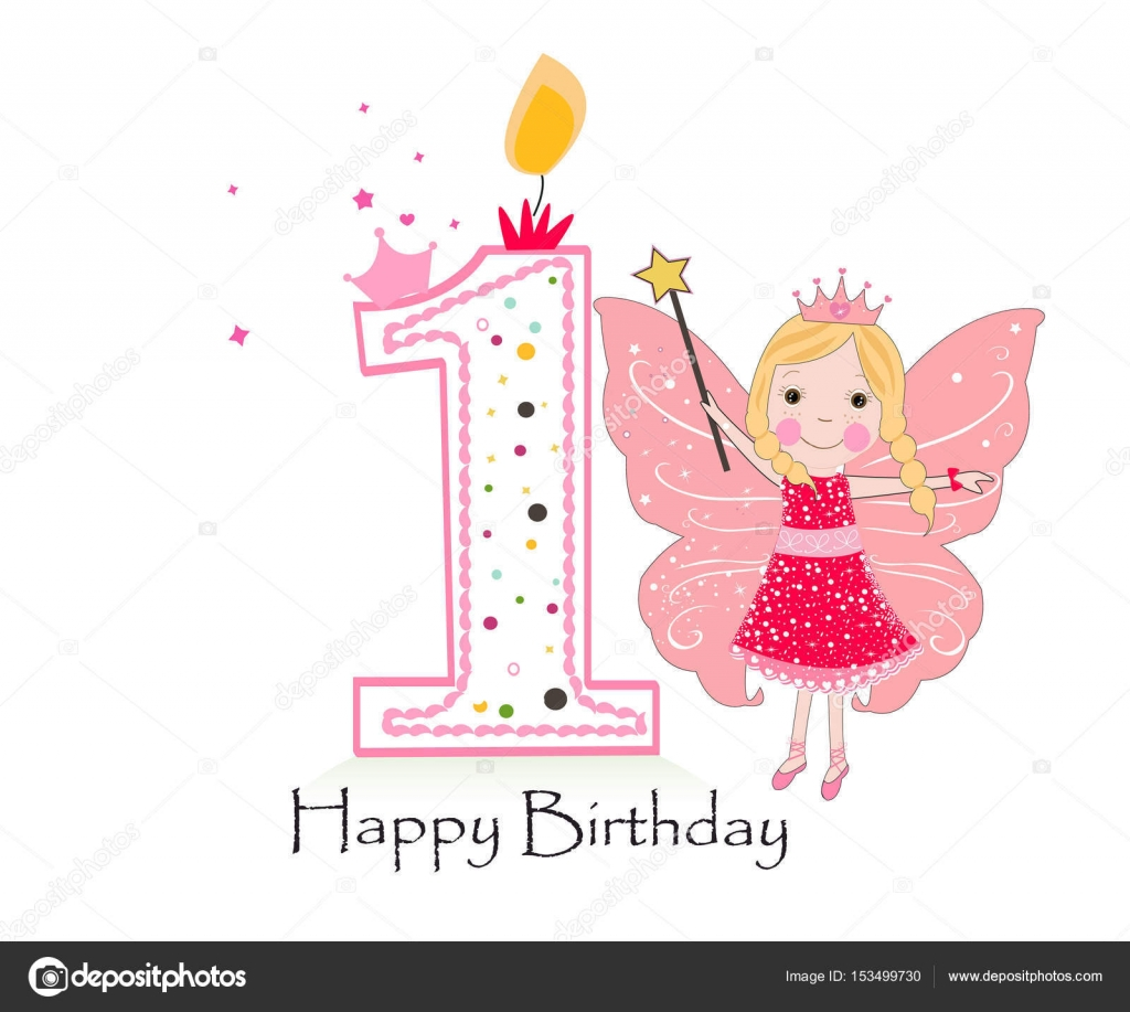 happy 1st birthday background ; depositphotos_153499730-stock-illustration-happy-first-birthday-candle-girl