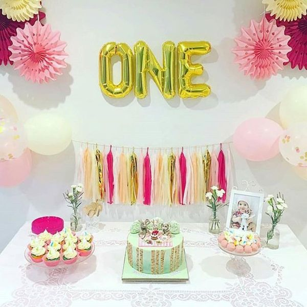 happy 1st birthday princess ; 3-happy-1st-birthday-table-with-cakes