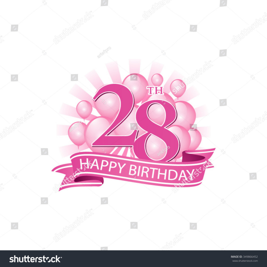 happy 28th birthday ; awesome-28th-pink-happy-birthday-logo-balloons-stock-vector-of-happy-28th-birthday-images